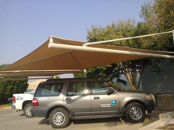 Installation of parking shade at udhailiyah